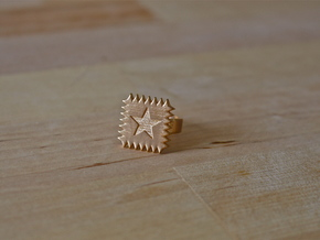 SpikeStar1 Ring in Raw Bronze