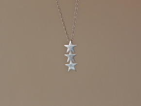 TripleStar Pendant in Natural Silver