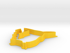 Pikachu Cookie Cutter in Yellow Processed Versatile Plastic