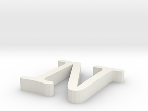 N Letter in White Natural Versatile Plastic