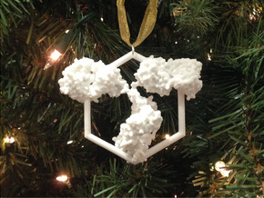 Antibody Ornament in White Strong & Flexible Polished