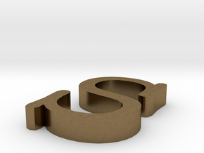 S Letter in Natural Bronze