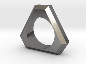 Tri Ring Customizable in Polished Nickel Steel
