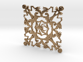 Nightmare Snowflake in Natural Brass