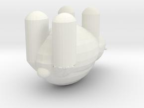 Teddy Bear Plain  in White Natural Versatile Plastic