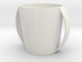 Glassmug in White Strong & Flexible