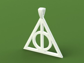 Deathly Hallows Necklace in Polished Bronzed Silver Steel