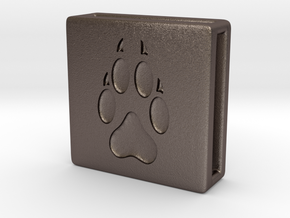 Band Charm square - Pawprint in Stainless Steel