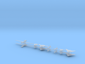 1/600 Unmanned Aerial Vehicle Kit (x14) in Smooth Fine Detail Plastic