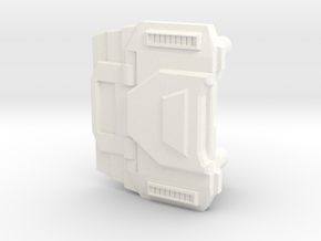 Extremely Noisy Robot Chest in White Processed Versatile Plastic