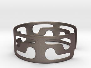 Bracciale05_d70mm in Polished Bronzed Silver Steel