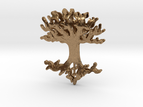 Tree Lingalad Pendant in Natural Brass