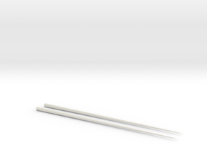 Chopsticks in White Natural Versatile Plastic