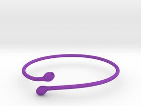 Bracciale08 in Purple Processed Versatile Plastic