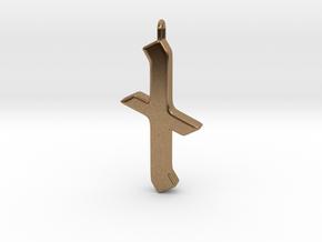 Rune Pendant - Nȳd in Natural Brass