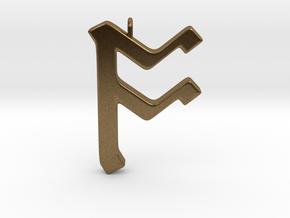 Rune Pendant - Ōs in Natural Bronze