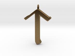 Rune Pendant - Tīr in Natural Bronze