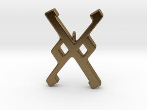 Rune Pendant - Gār in Natural Bronze