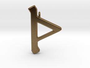 Rune Pendant - Þorn in Natural Bronze