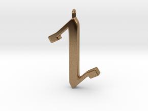 Rune Pendant - Cweorð in Natural Brass