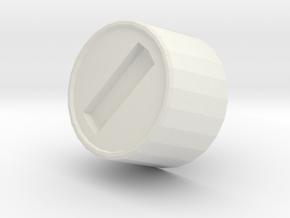 Mk III - SmallChestFastener in White Natural Versatile Plastic