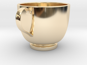 Turkish Coffee Cup in 14K Yellow Gold