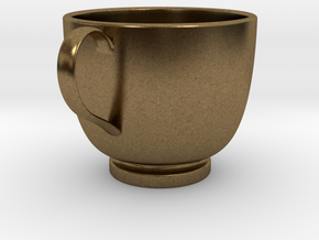 Turkish Coffee Cup in Natural Bronze