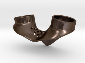 Petting Ring T19.2 F18.2 in Polished Bronze Steel