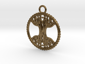 Tree Of Life Pendant in Natural Bronze