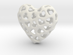 Small hearts, Big love (from $15) in White Natural Versatile Plastic: Small