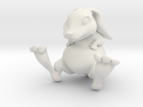 Lucky Bunny Charm in White Natural Versatile Plastic