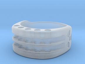 US9.75 Ring XI: Tritium in Smooth Fine Detail Plastic