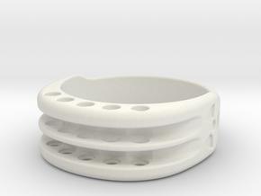 US12 Ring XI: Tritium in White Natural Versatile Plastic