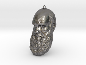 "Charles Darwin 6"" Head Decimated in Polished Nickel Steel"
