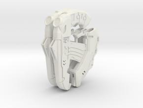 1:6 small direct energy Pistol X2 in White Natural Versatile Plastic
