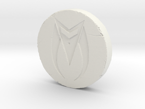 Zed Coin in White Strong & Flexible
