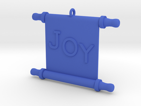 Ornament, Scroll, Joy in Blue Strong & Flexible Polished