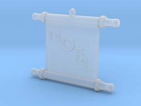 Ornament, Scroll, Noel in Smooth Fine Detail Plastic