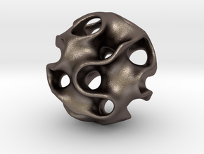 GYRON Sphere - 60mm in Polished Bronzed Silver Steel