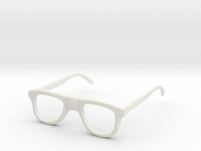 Nerd Glasses in White Natural Versatile Plastic