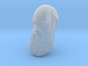 "Charles Darwin 6"" Head Wall Mount in Smooth Fine Detail Plastic"