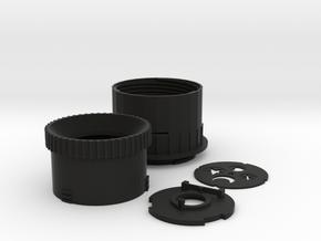 Diy M43 Lens V20 For Shapeways in Black Natural Versatile Plastic