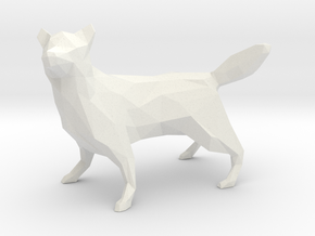Low Poly Husky [8.5cm Tall] in White Strong & Flexible