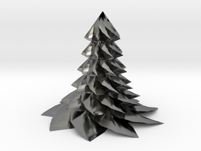 Christmas Tree - Sapin De Noel 80-6-9-2 in Polished Silver