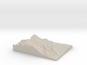 Model of KSKI-FM (Sun Valley) in Natural Sandstone
