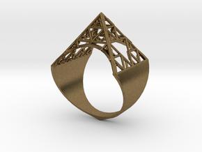 Sierpinski Pyramid Ring (feminine version) size 9 in Natural Bronze