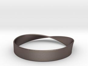 Möbius Bracelet Bangle in Polished Bronzed Silver Steel
