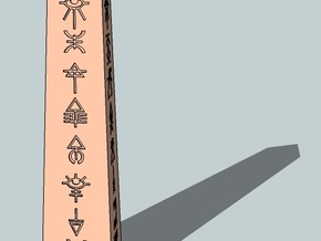 6mm Eldaritch Obelisk in White Strong & Flexible Polished