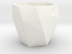 Poly Espresso in White Processed Versatile Plastic