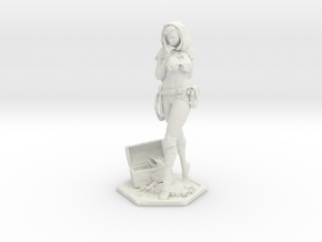 Female Thief 7in Statuette  in White Natural Versatile Plastic